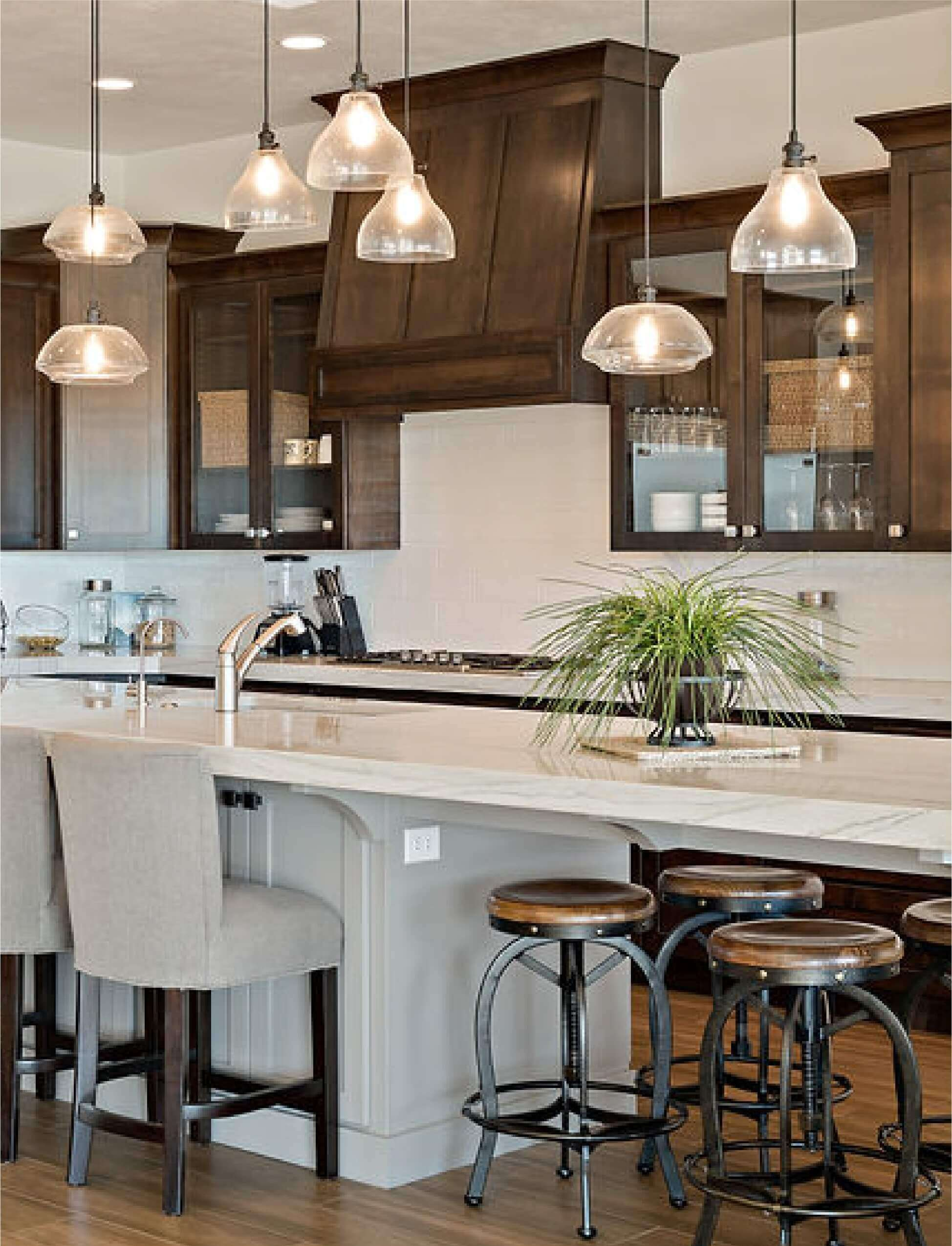 Southern Utah Home with Custom Kitchen and Pendant Lighting