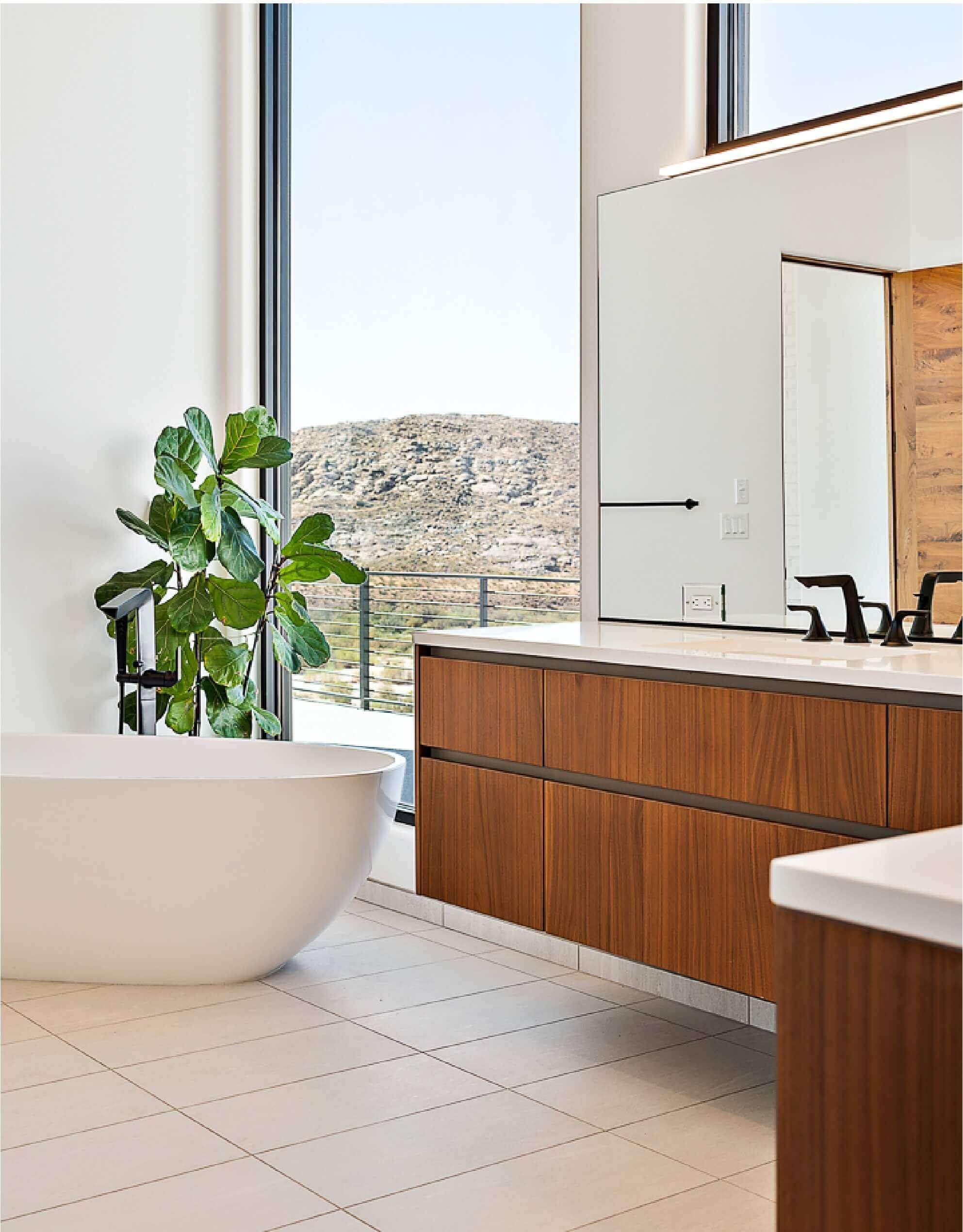 St. George Home Design Bathroom With Large Windows