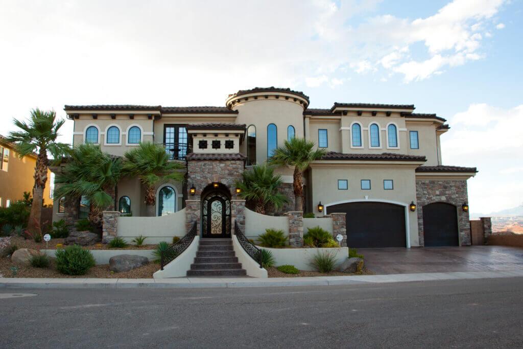 midcentury modern home in St. George Utah by custom home builders Dennis Miller Homes