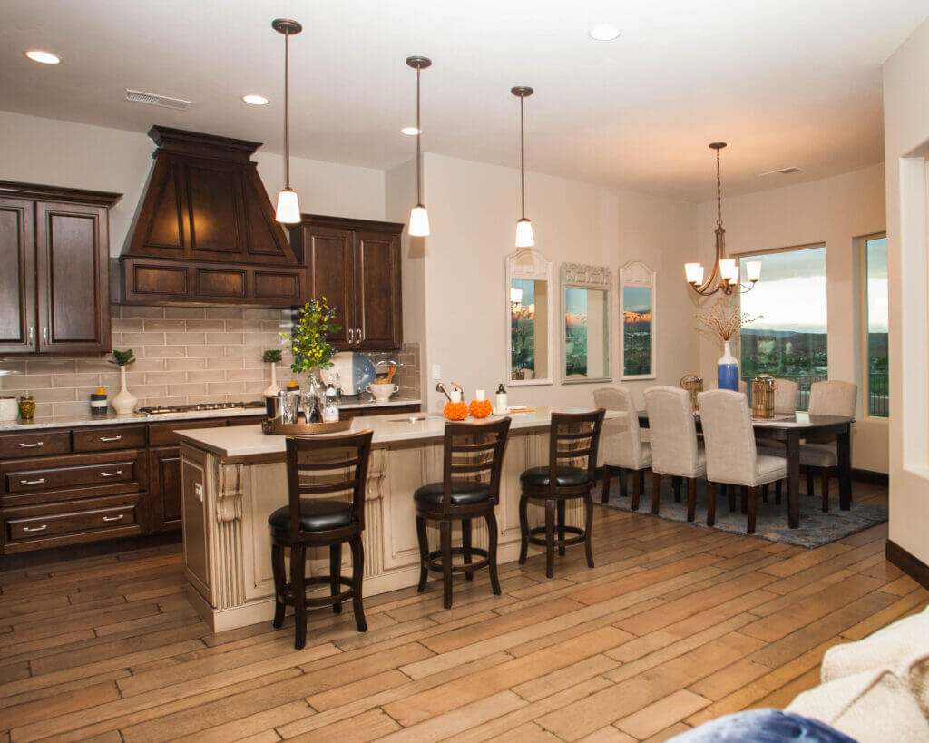 beautiful modern desert kitchen with island counter in Southern Utah